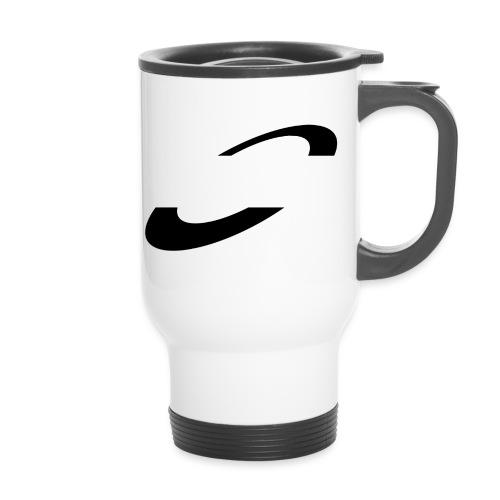 Planet Cycling Icon Black - Thermal mug with handle