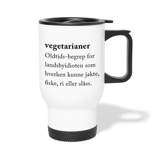 Vegetarianer definisjon - Termokopp med håndtak