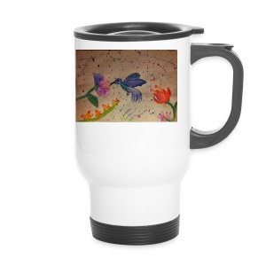 Kolibrie & bloemen - Thermo mok