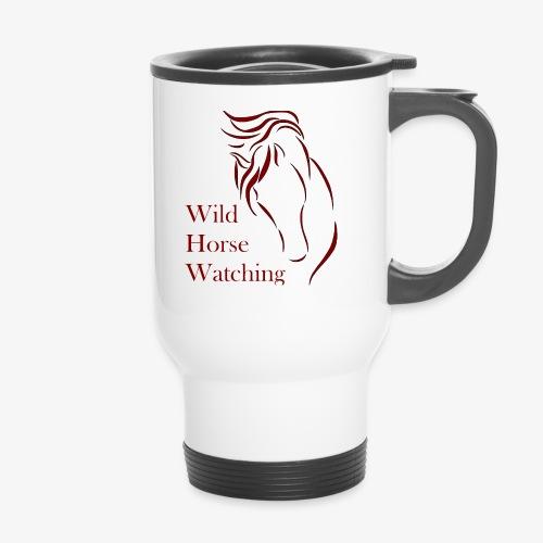 Logo Aveto Wild Horses - Tazza termica con manico per il trasporto