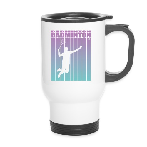 Badminton Jump Smash - Thermal mug with handle