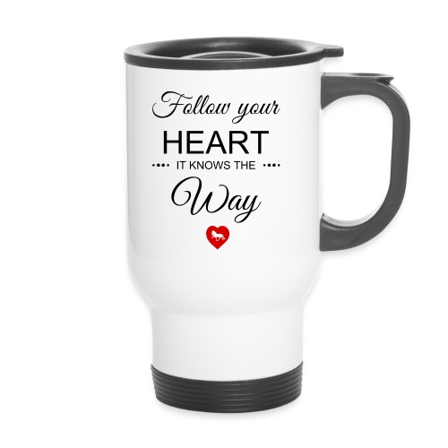 follow your heartbesser - Thermobecher mit Tragegriff