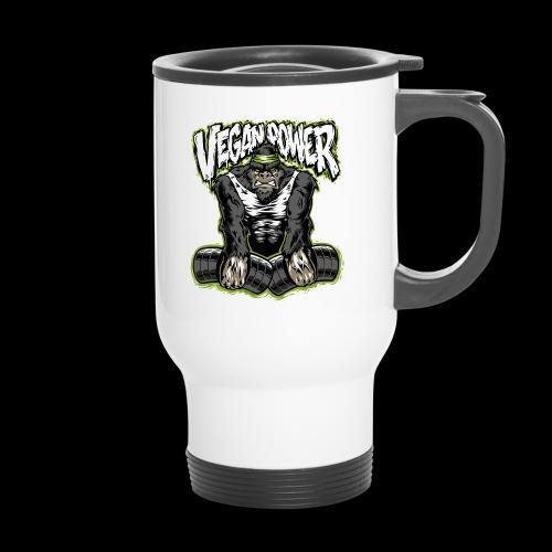 veganpower Muskel Gorilla - Thermobecher
