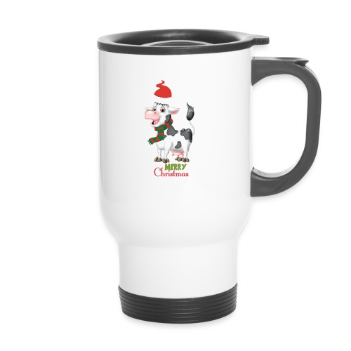 Merry Christmas - cow - Termosmugg