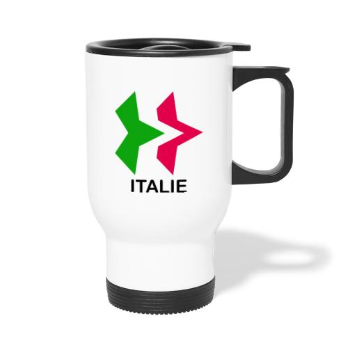 Drapeau Italia - Tasse isotherme avec poignée