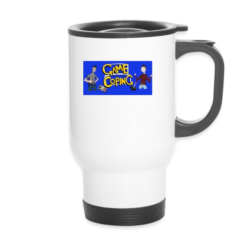 Game Coping Happy Banner - Thermal mug with handle