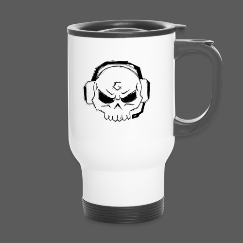 Gamer Skull Logo BLACK - Thermobecher