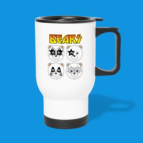 Kiss Bears square.png - Travel Mug