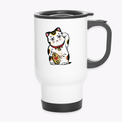 Love Lucky Cat - Thermal mug with handle