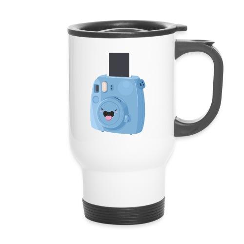 Appareil photo instantané bleu - Mug thermos