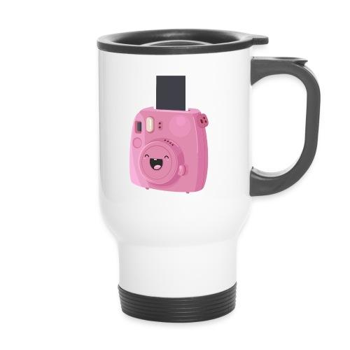 Appareil photo instantané rose - Mug thermos