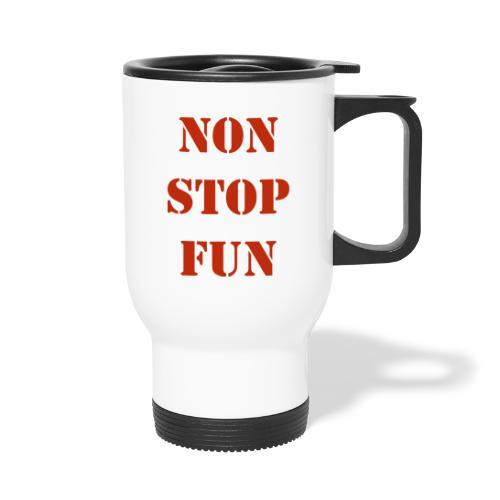 non stop fun - Thermobecher mit Tragegriff