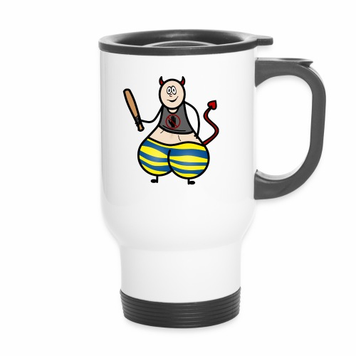 Devil No Touchies Charlie - Thermal mug with handle