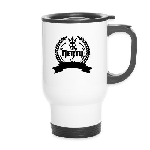 nerty logo noir - Mug thermos