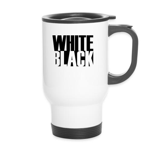 White, Black T-shirt - Thermo mok