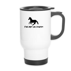 licorne tasse fais moi un sourire - Mug thermos