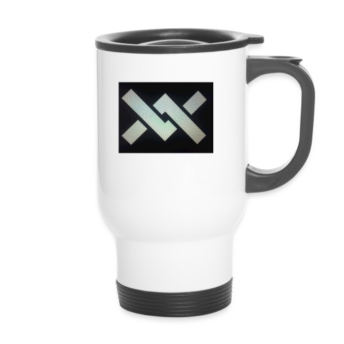 Original Movement Mens black t-shirt - Thermal mug with handle