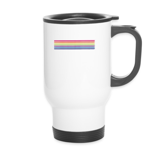 Colored lines - Thermal mug with handle