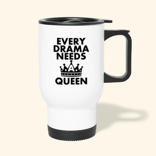 EVERY DRAMA black png - Thermal mug with handle