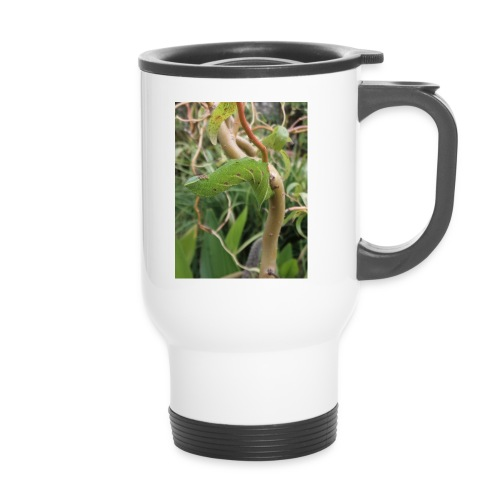 hawk moth caterpillar - Thermal mug with handle