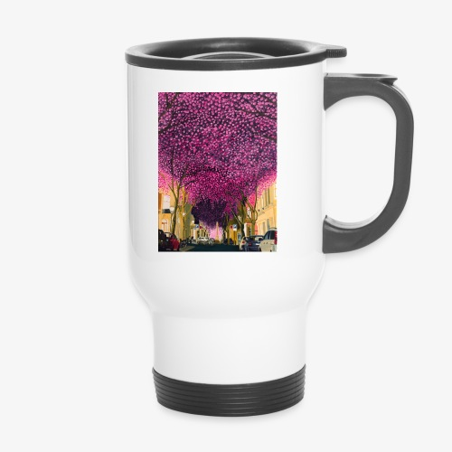 A street at night - Thermal mug with handle