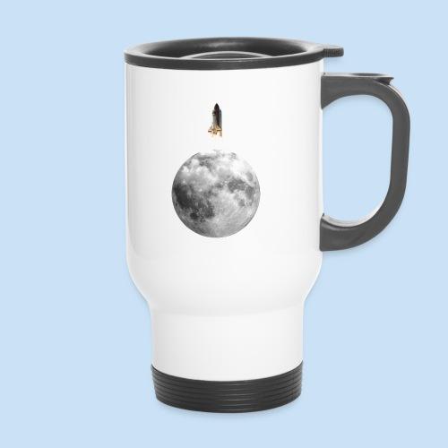 Mondrakete - Thermobecher mit Tragegriff