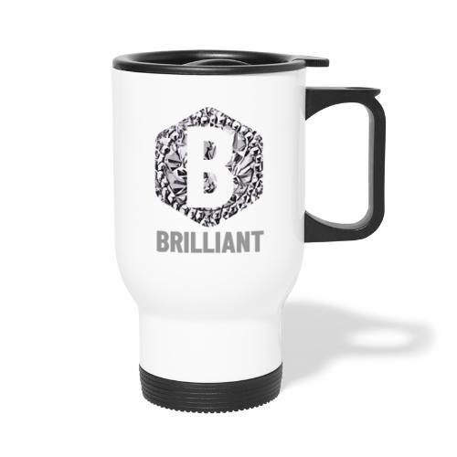 B brilliant grey - Thermosmok met draagring