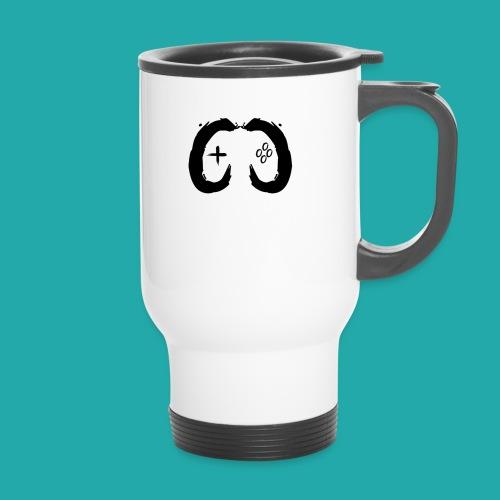 Crowd Control Controller Logo Black Large - Thermal mug with handle