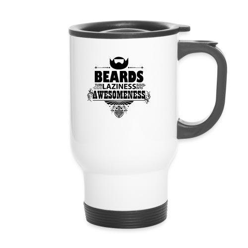 beards_laziness_awesomeness 10x - Kahvallinen termosmuki