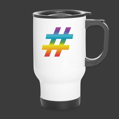 rainbow hash include - Thermal mug with handle