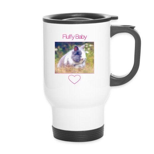 Fluffy Baby: Phone Case - Thermal mug with handle
