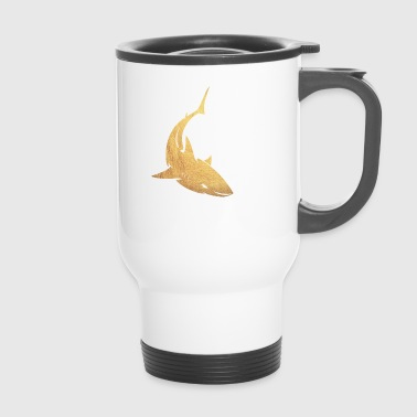 Goldener Hai - Thermobecher