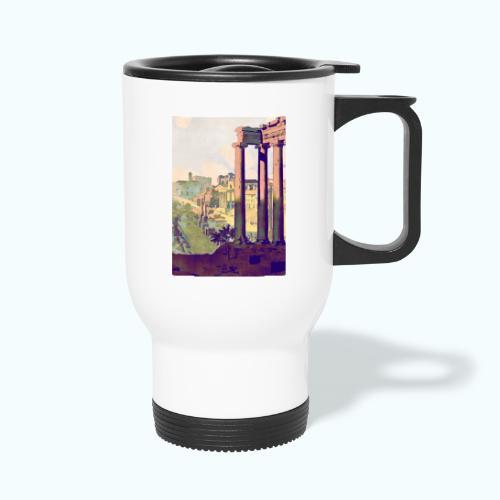 Rome Vintage Travel Poster - Thermal mug with handle