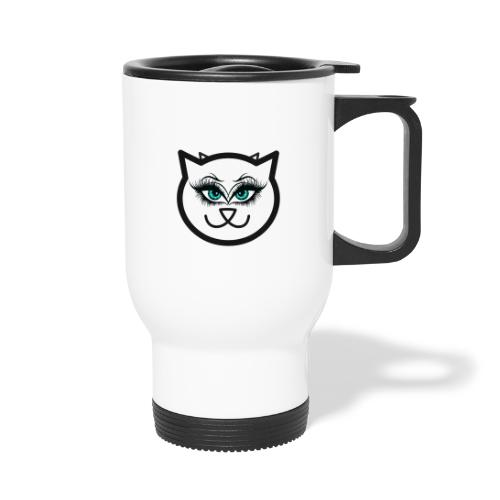Hipster Cat Girl by T-shirt chic et choc - Mug thermos