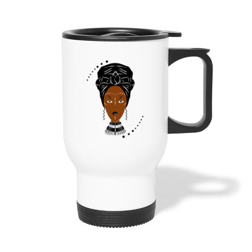 African Black/White Wrap - Travel Mug