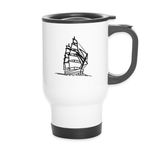 Segelschiff Illustration Meer Schiff Bootsfahrt - Thermobecher