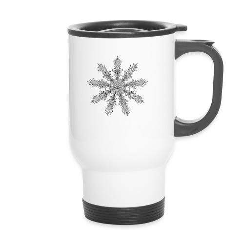 Magic Star Tribal #4 - Thermal mug with handle