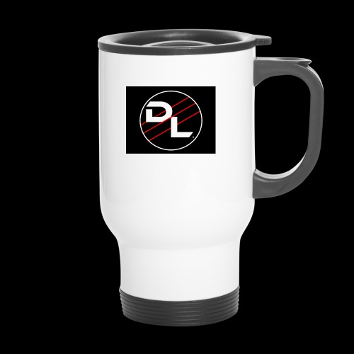 DriftLords Logo Black Background - Thermal mug with handle
