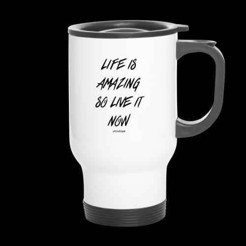 Life is amazing Samsung Case - Thermal mug with handle