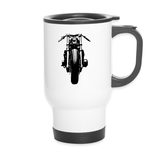 Motorcycle Front - Thermal mug with handle