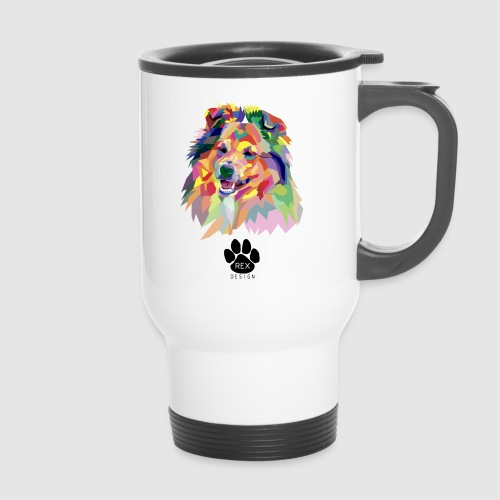 Happy Little Sheltie - Thermal mug with handle