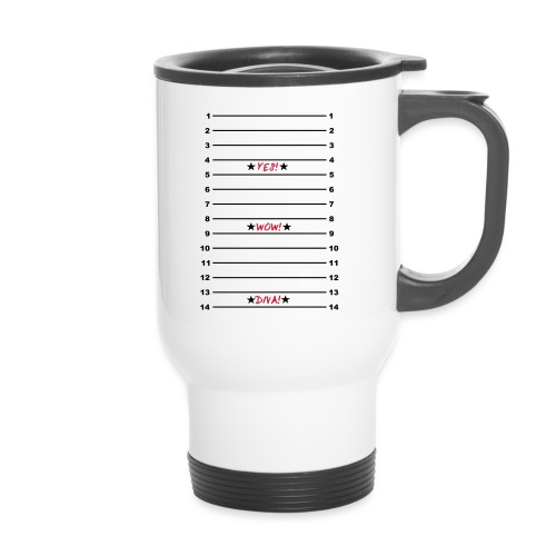 Yes Wow Diva Length Check T-Shirt - Thermal mug with handle