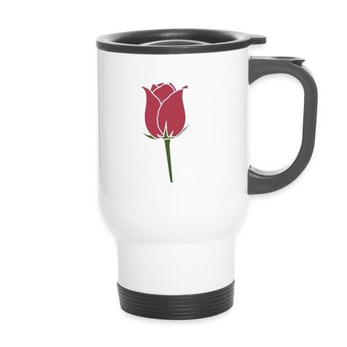 Rose Design - Thermobecher mit Tragegriff