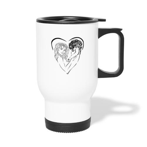 Cheval cavalière passion ❤ FC - Mug thermos