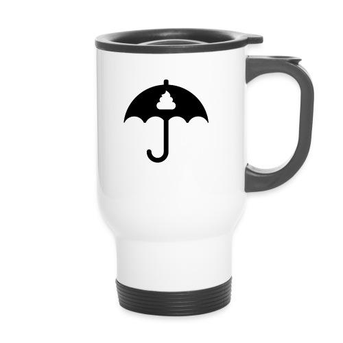 Shit icon Black png - Thermal mug with handle