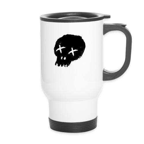 blackskulllogo png - Thermal mug with handle