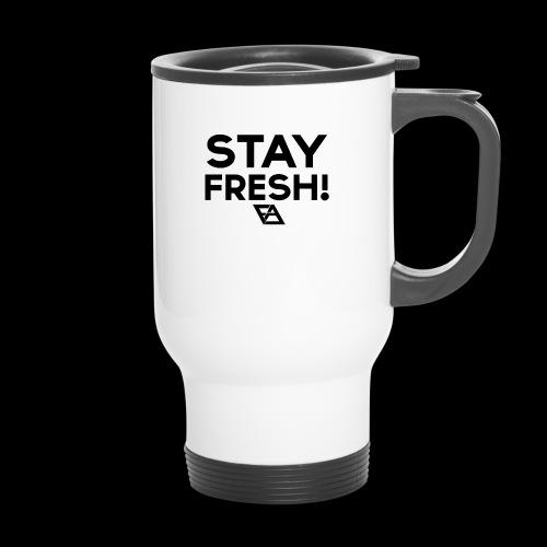 STAY FRESH! T-paita - Kahvallinen termosmuki
