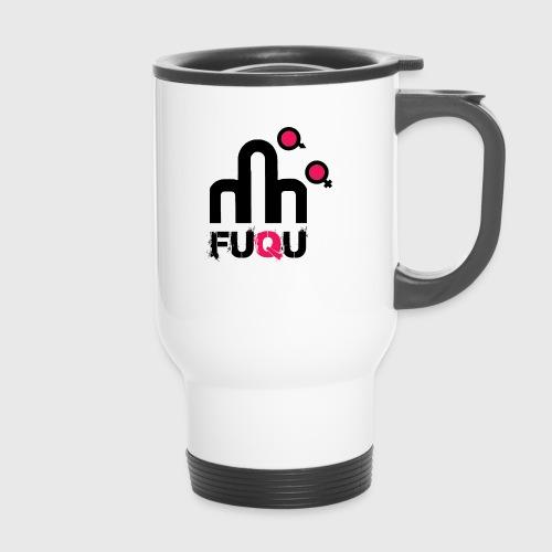 T-shirt FUQU logo colore nero - Tazza termica con manico per il trasporto