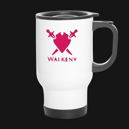 Das Walkeny Logo mit dem Schwert in PINK! - Thermobecher
