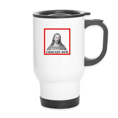 Crucify God | Sad Jesus - Kahvallinen termosmuki